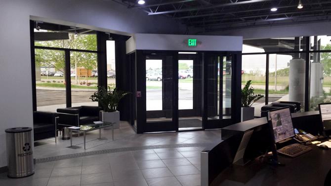 Krones Inc. Entrance Renovation - WI Construction Project by Wes Allen Construction Co.